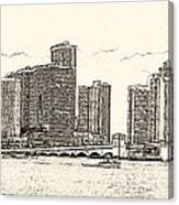 Miami - Venetian Causeway Canvas Print