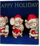Mice Holiday Canvas Print