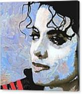 Michael Jackson Blue And White Canvas Print
