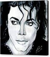 Michael Jackson Portrait Canvas Print