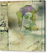 Michael Jackson Silhouette Canvas Print
