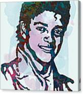 Michael Jackson stylised pop art poster Canvas Print