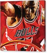 Michael Jordan Artwork 3 Canvas Print