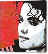 Michael Red And White Canvas Print