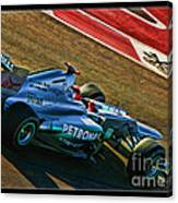 Michael Schumacher Silver Arrows Canvas Print