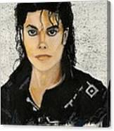 Michaeljacksoninoilpastel Canvas Print