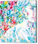 Michela In The Garden Canvas Print