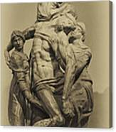 Michelangelo's Florence Pieta Canvas Print