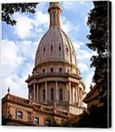 Michigan State Capitol Canvas Print