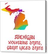 Michigan State Map Collection 2 Canvas Print