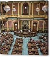 Michigan State Senate From Above  Canvas Print