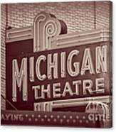 Michigan Theatre Canvas Print