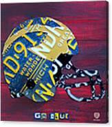 Michigan Wolverines College Football Helmet Vintage License Plate Art Canvas Print