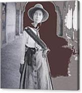 Michoacan Lady Mexican Fighter 1921-2014.  Canvas Print