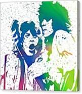 Mick Jagger And Keith Richards Canvas Print