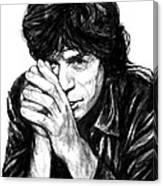 Mick Jagger Art Drawing Sketch Portrait Canvas Print