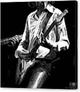 Mick 1977 Art Bw Canvas Print