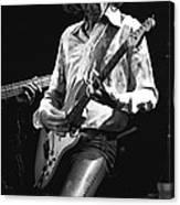 Mick In Flight 1977 Canvas Print