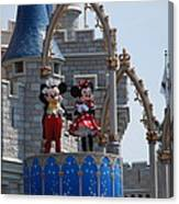 Mickey And Minnie In Living Color Canvas Print