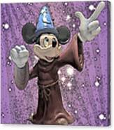 Mickey And The Stars Canvas Print