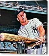 Mickey Mantle Painting Canvas Print