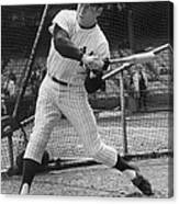 Mickey Mantle Poster Canvas Print