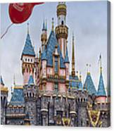 Mickey Mouse Balloon At Disneyland Canvas Print