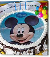 Mickey Mouse Cake Canvas Print
