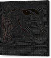 Microdot Canvas Print