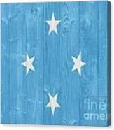 Micronesia Flag Canvas Print