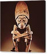 Mictlantecuhtli Lord Of Mictlan Remojadas Style, From Los Cerros, Tierra Blanca, Vera Cruz Pottery Canvas Print