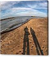 Mid Dec Day At The Beach...who Can Argue At Presque Isle State Park Series Canvas Print