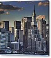 Mid Manhattan In Hdr Canvas Print