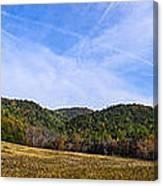 Mid-morning Panorama At Cades Cove Canvas Print