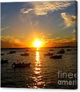 Mid Summer Sunset Over The Island Canvas Print