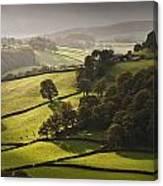 Mid Wales Autumn Landscape Canvas Print