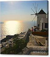 Midday On Santorini Canvas Print