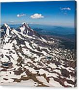 Middle And North Sister Canvas Print