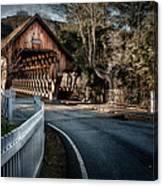Middle Bridge - Woodstock Vermont Canvas Print