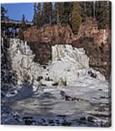 Middle Falls In Winter Canvas Print