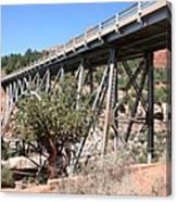 Midgley Bridge And Oak Creek Canyon  Canvas Print
