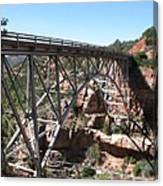 Midgley Bridge Over Oak Creek Canyon Canvas Print