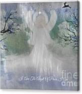 Midnight Angel Of Peace Canvas Print