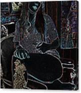 Midnight Barber Canvas Print
