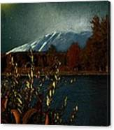 Midnight Blue In The Mountains Canvas Print