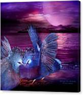 Midnight Blue Rendevous Canvas Print