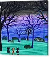 Midnight Cat Gathering Canvas Print
