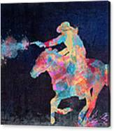 Midnight Cowgirls Ride Heaven Help The Fool Who Did Her Wrong Canvas Print