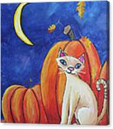 Midnight In The Pumpkin Patch Canvas Print