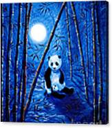 Midnight Lullaby In A Bamboo Forest Canvas Print